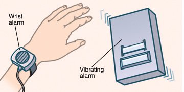 Wrist alarm for bedwetting